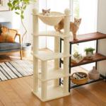 猫ちゃんが大好きなハンモック付きのキャットタワー「キャットハンモックタワー」(おすすめのキャットタワー)