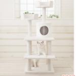 白くて可愛いツインベットのタワー「Mauタワーココ」(おすすめのキャットタワー)