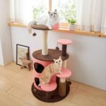 ラクに上り下りできるステップが嬉しい猫タワー♪「マーブルステップタワー」(おすすめのキャットタワー)